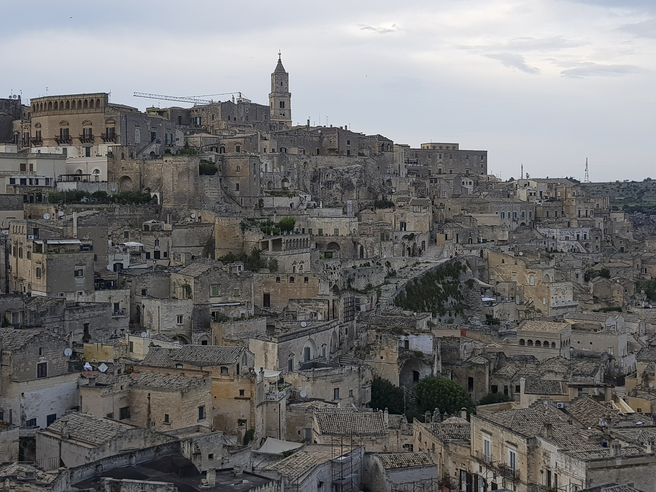 Oraşul Materra cu ale lui Sassi
